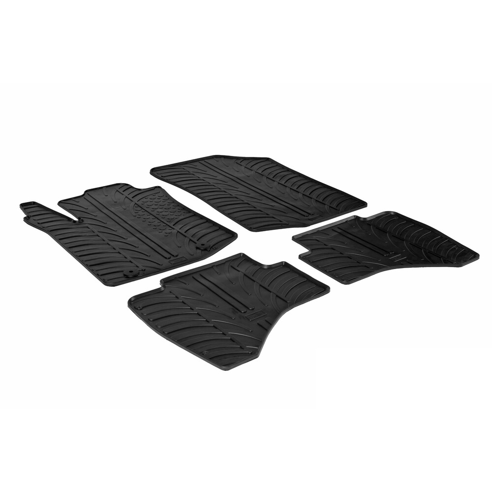 Set tappeti su misura in gomma -  Citroen C1 3p (06/14>) -  Citroen C1 5p (06/14>) -  Citroen C1 Airscape 3p (06/14>) -  Citroen