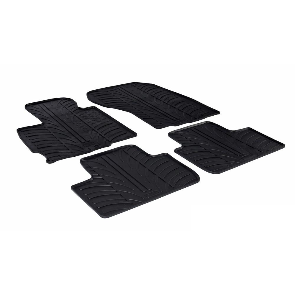 Set tappeti su misura in gomma -  Citroen C4 Aircross (04/12>) -  Mitsubishi ASX (07/10>12/12)