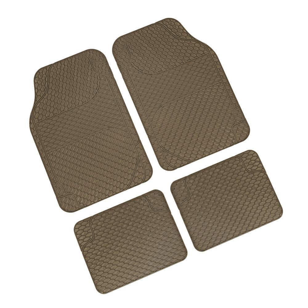 Drena 4, serie tappeti universali 4 pezzi - Beige