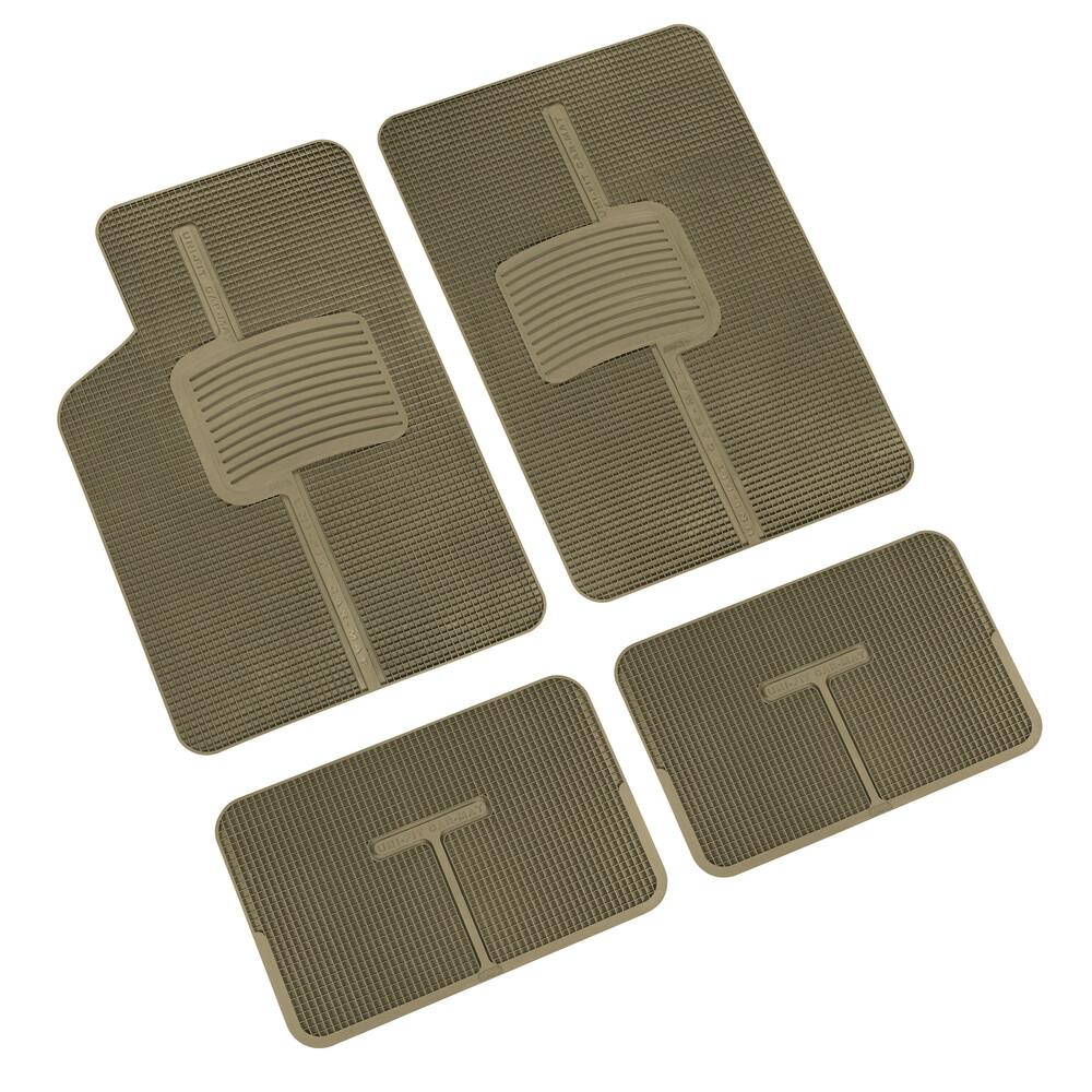 Uni-Fit, serie tappeti 4 pezzi in pvc - Beige