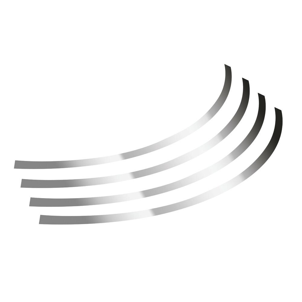 Rim-Stickers, profili adesivi ruota - Taglia 1 - Cromo