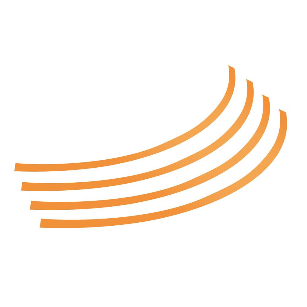Rim-Stickers, profili adesivi ruota - Taglia 1 - Arancio