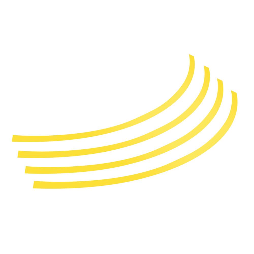 Rim-Stickers, profili adesivi ruota - Taglia 2 - Giallo