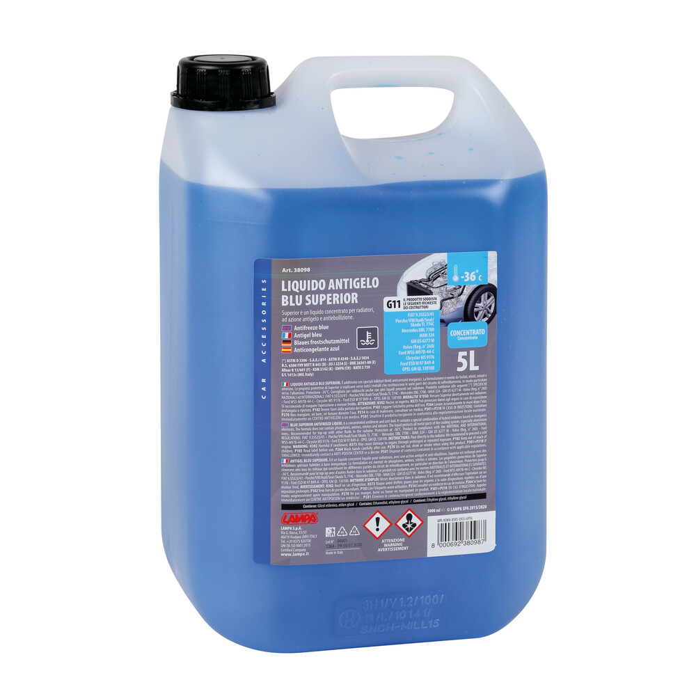 Superior-Blu, liquido antigelo concentrato - 5000 ml
