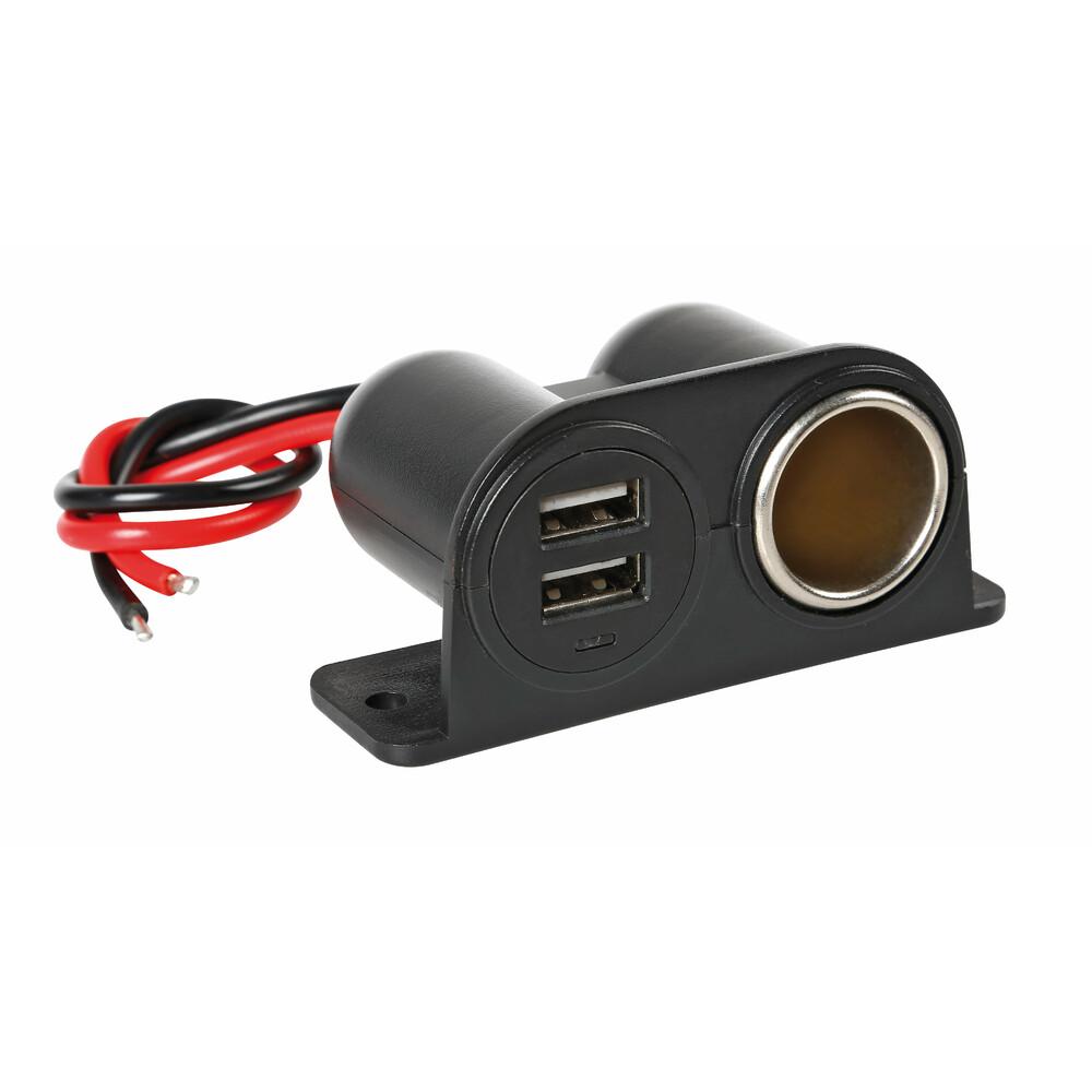 PRESA USB 12//24V LAMPA 2100MA