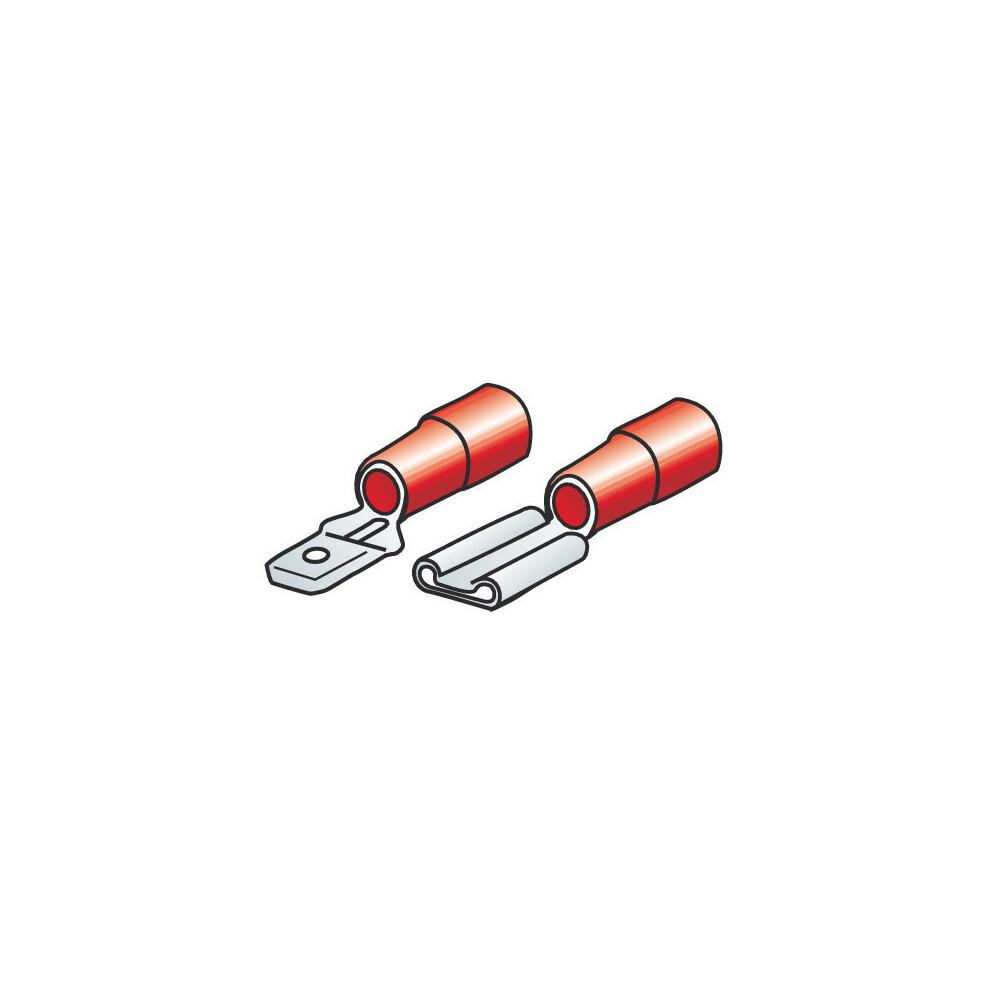 Kit 40 terminali-capicorda piatti - Rosso