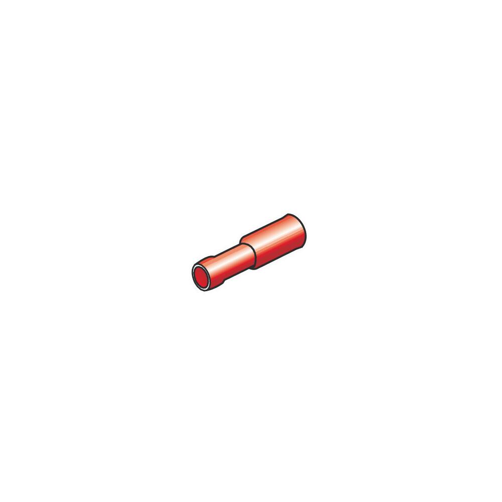 10 terminali - capicorda femmina rotondi - Rosso