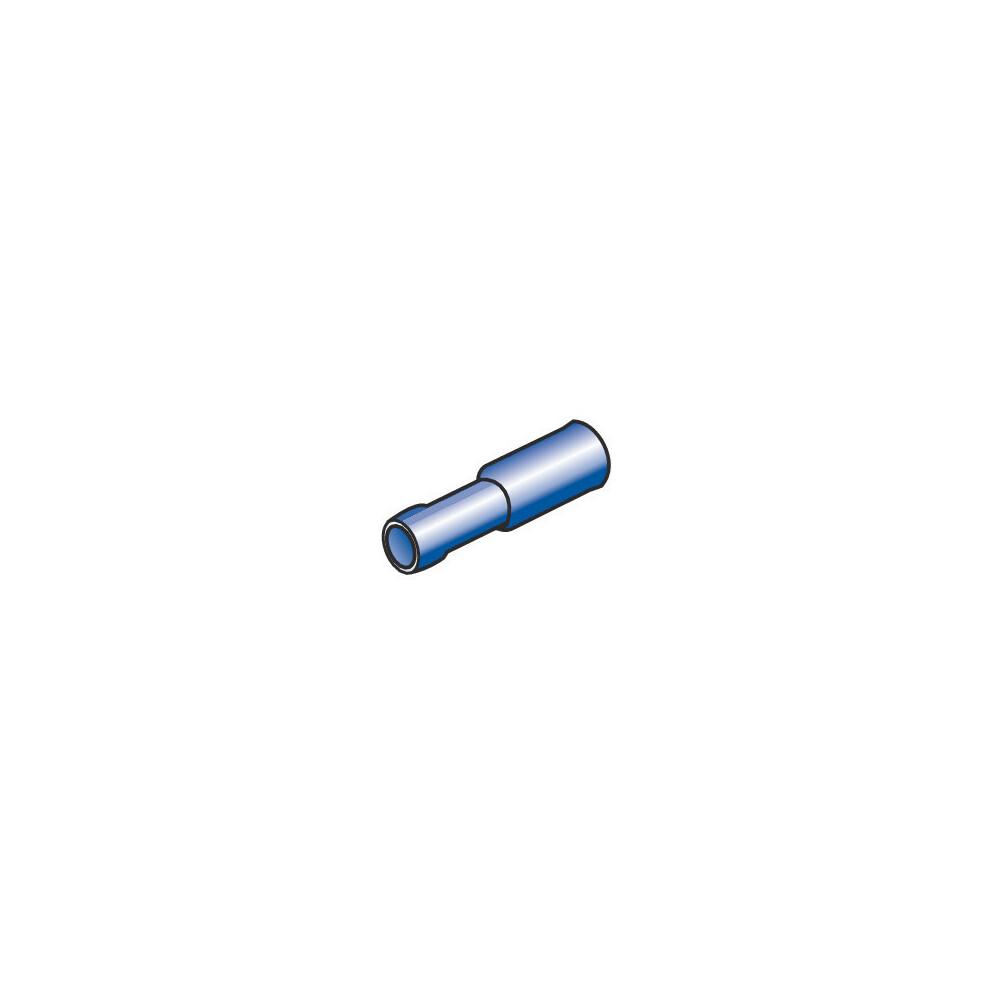 10 terminali - capicorda femmina rotondi - Blu