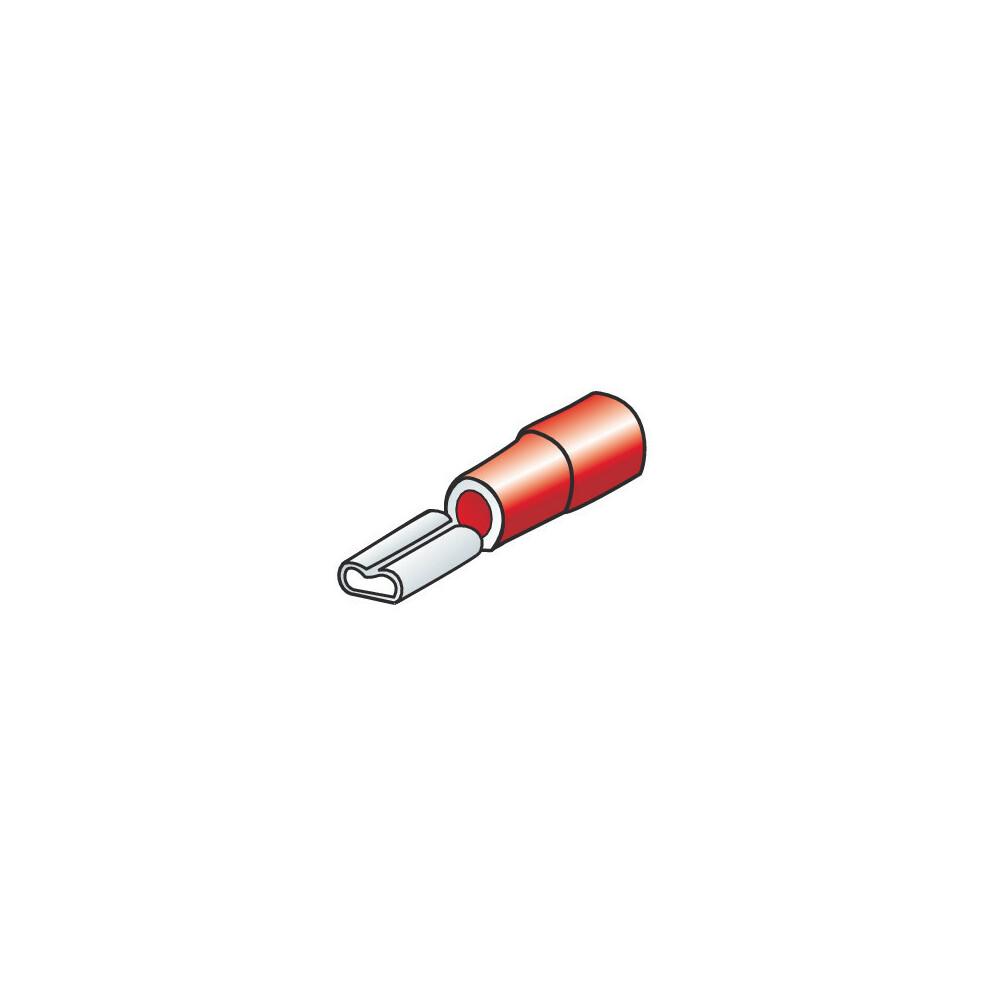 12 terminali - capicorda femmina piatti per altoparlanti - Rosso