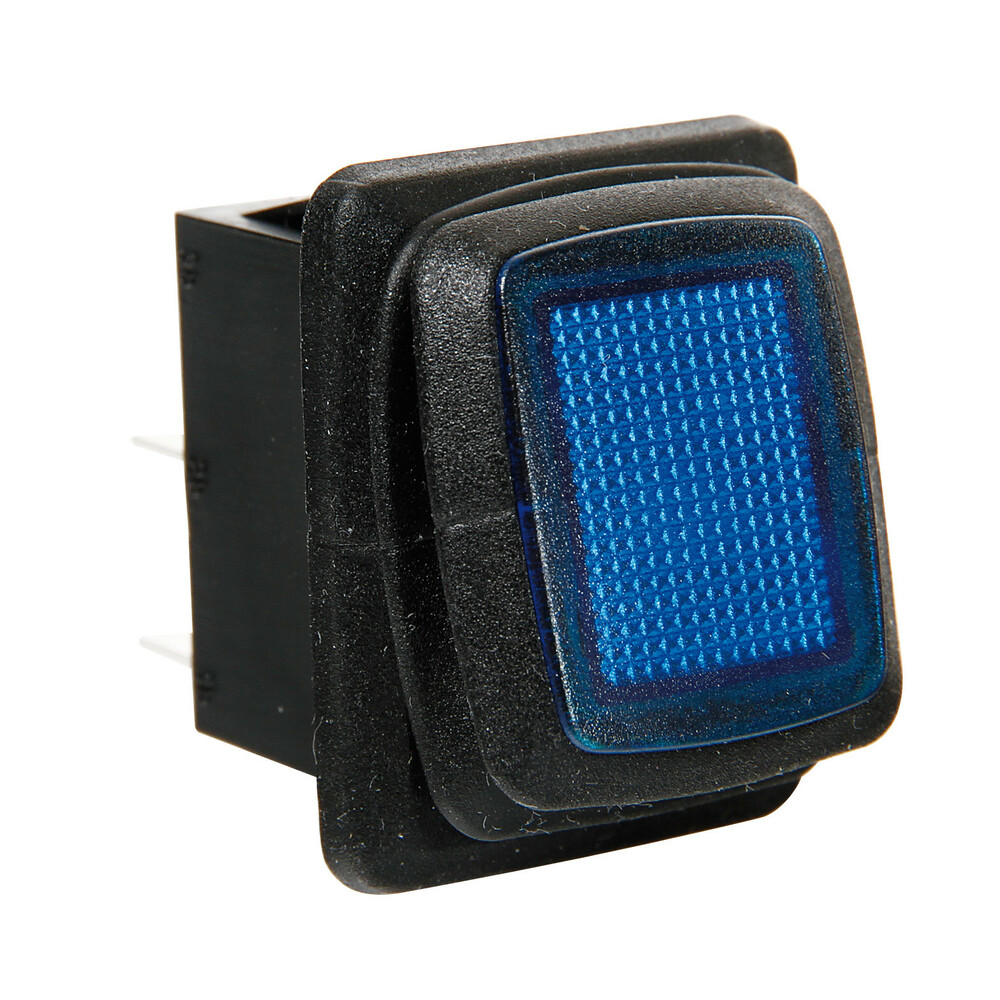 Interruttore impermeabile con led - 12/24V - Blu