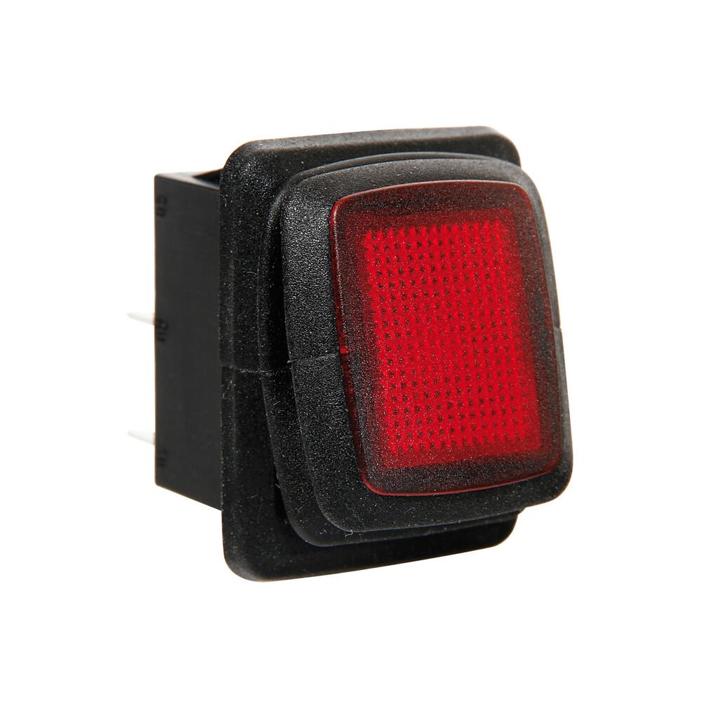 Interruttore impermeabile con led - 12/24V - Rosso