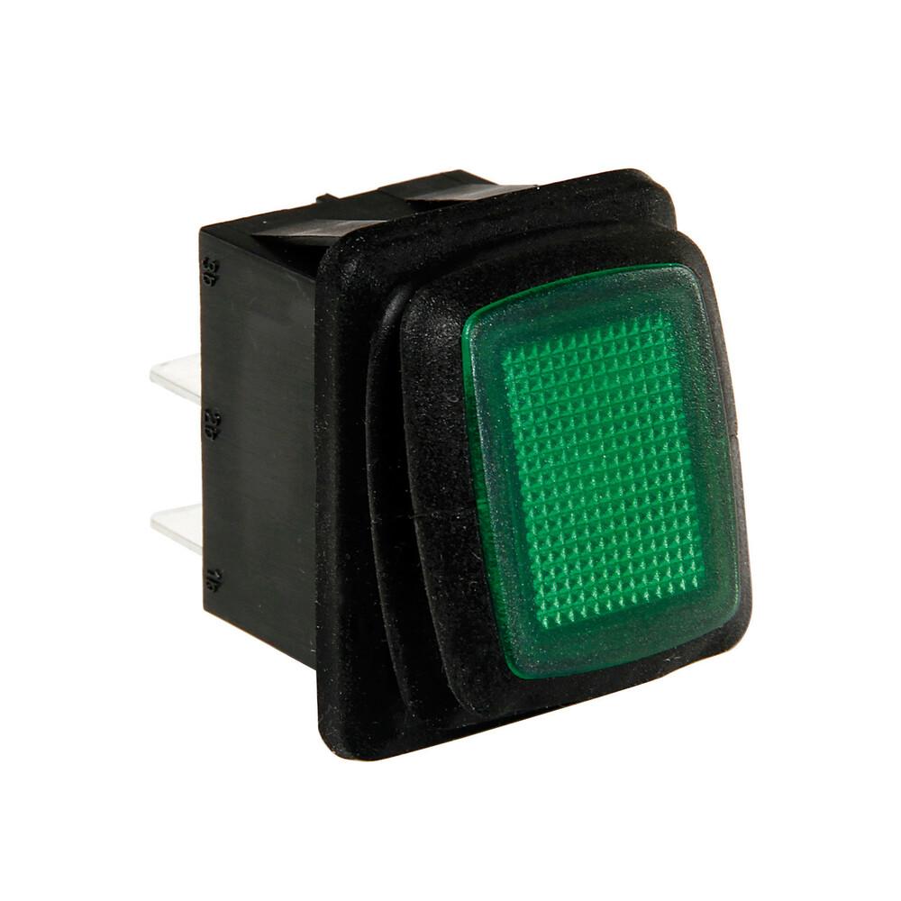 Interruttore impermeabile con led - 12/24V - Verde