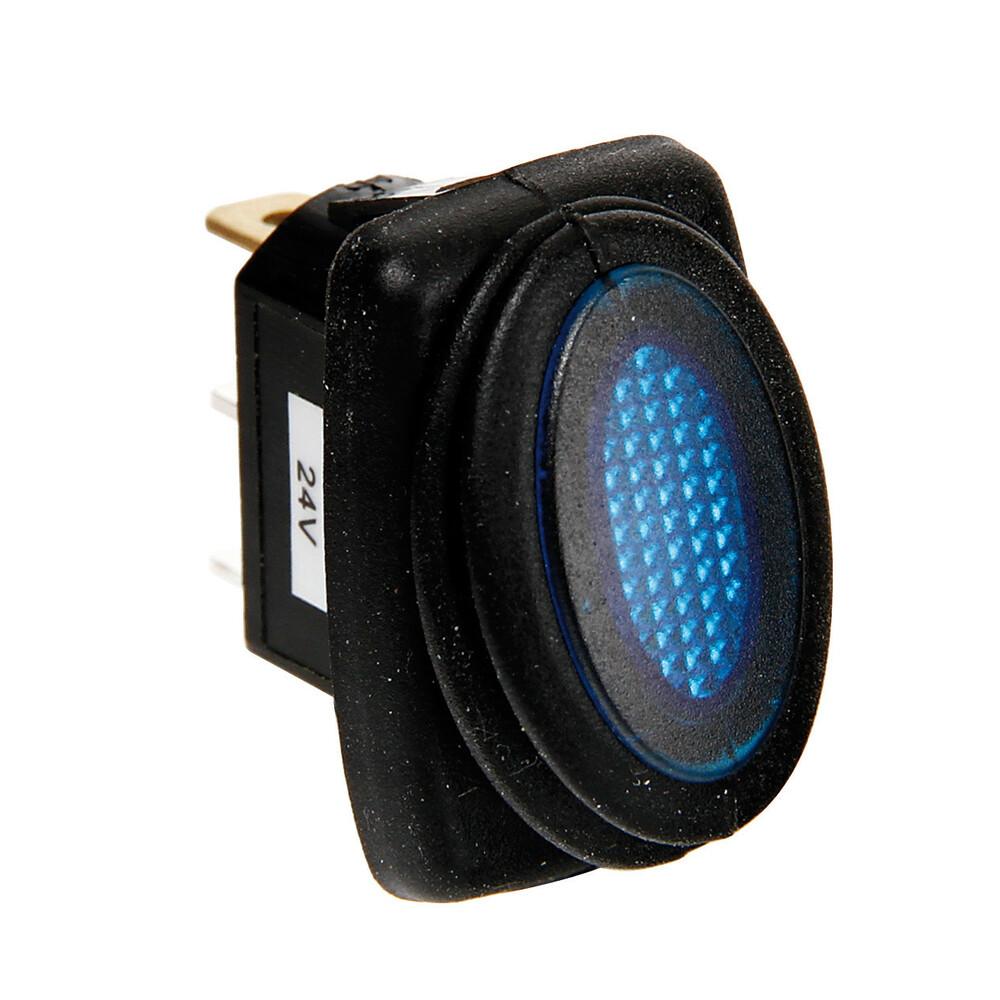 Micro interruttore impermeabile con led - 12/24V - Blu
