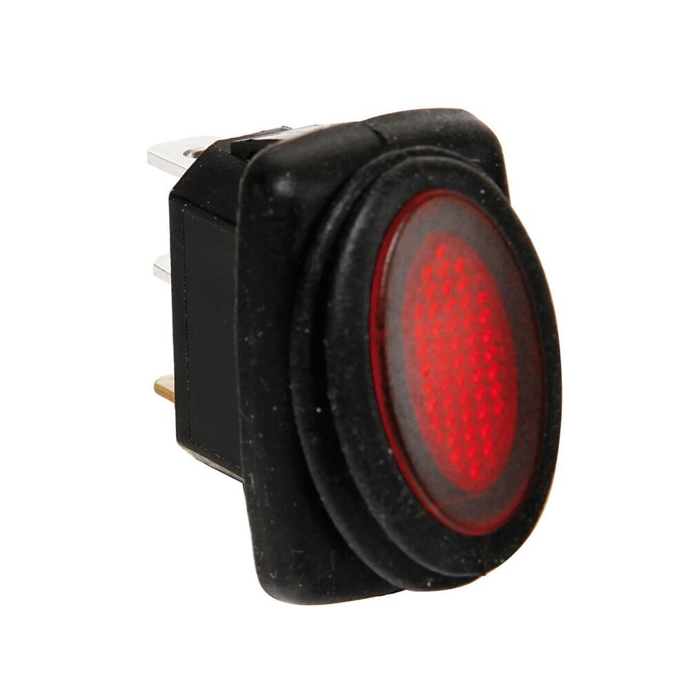 Micro interruttore impermeabile con led - 12/24V - Rosso