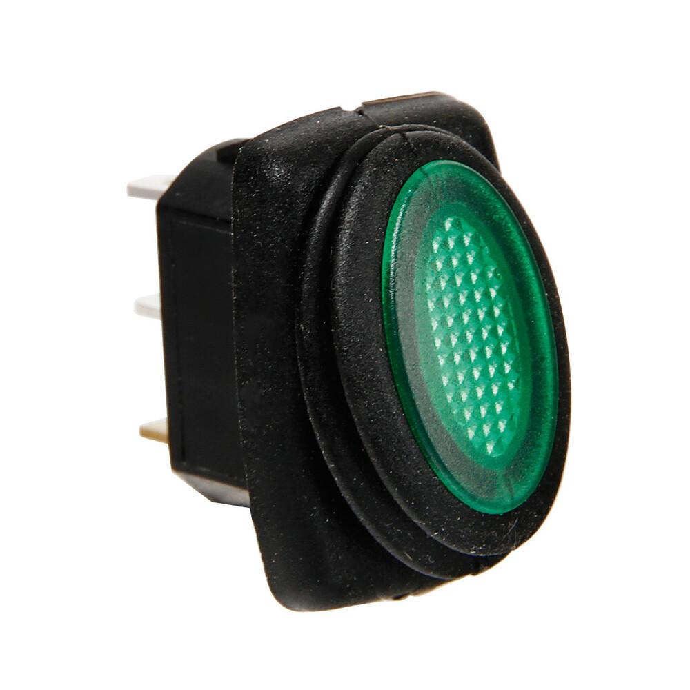 Micro interruttore impermeabile con led - 12/24V - Verde
