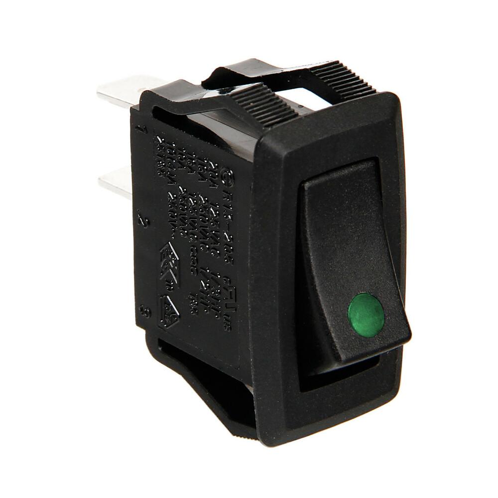 Interruttore con led - 12/24V - Verde