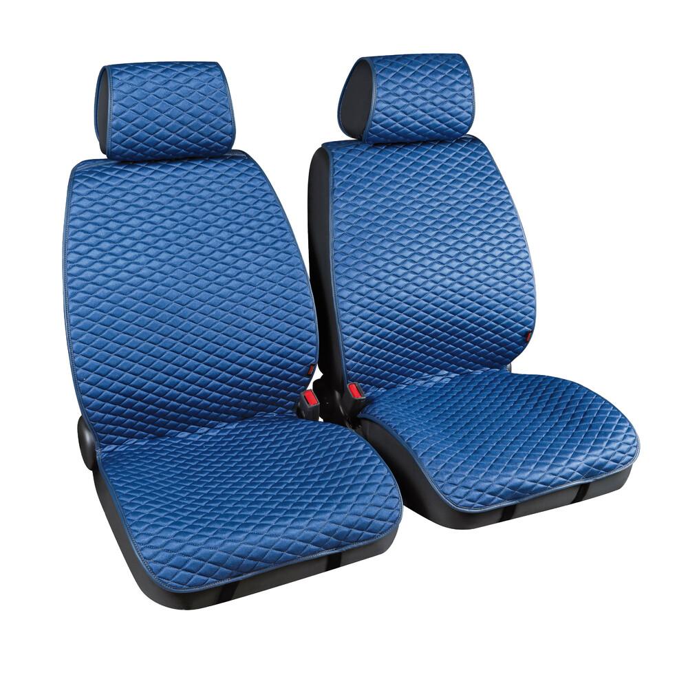 Cover-Tech Fabric, coppia coprisedili anteriori in tessuto tecnico - Blu/Grigio