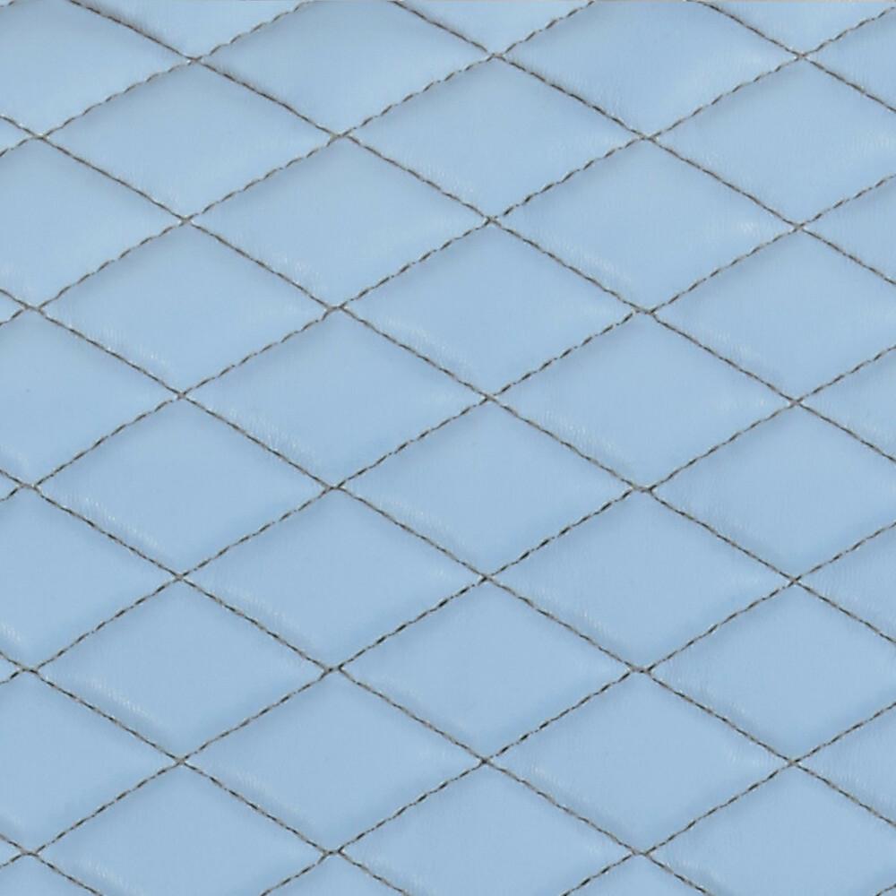 Cover-Tech Leatherette, coppia coprisedili anteriori in similpelle - Azzurro/Grigio
