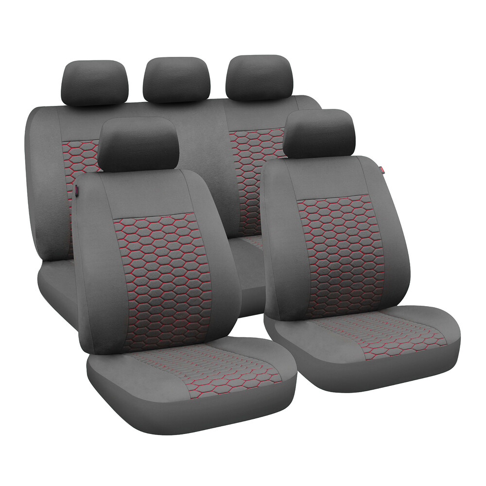 Comet, seat cover set - Black/Red
