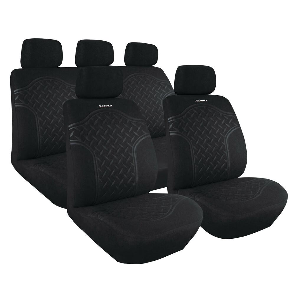 grey Car seat covers fit Renault Megane full set black