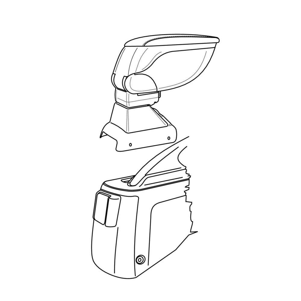Attacco bracciolo -  Honda Civic 4p (01/01>04/06)
