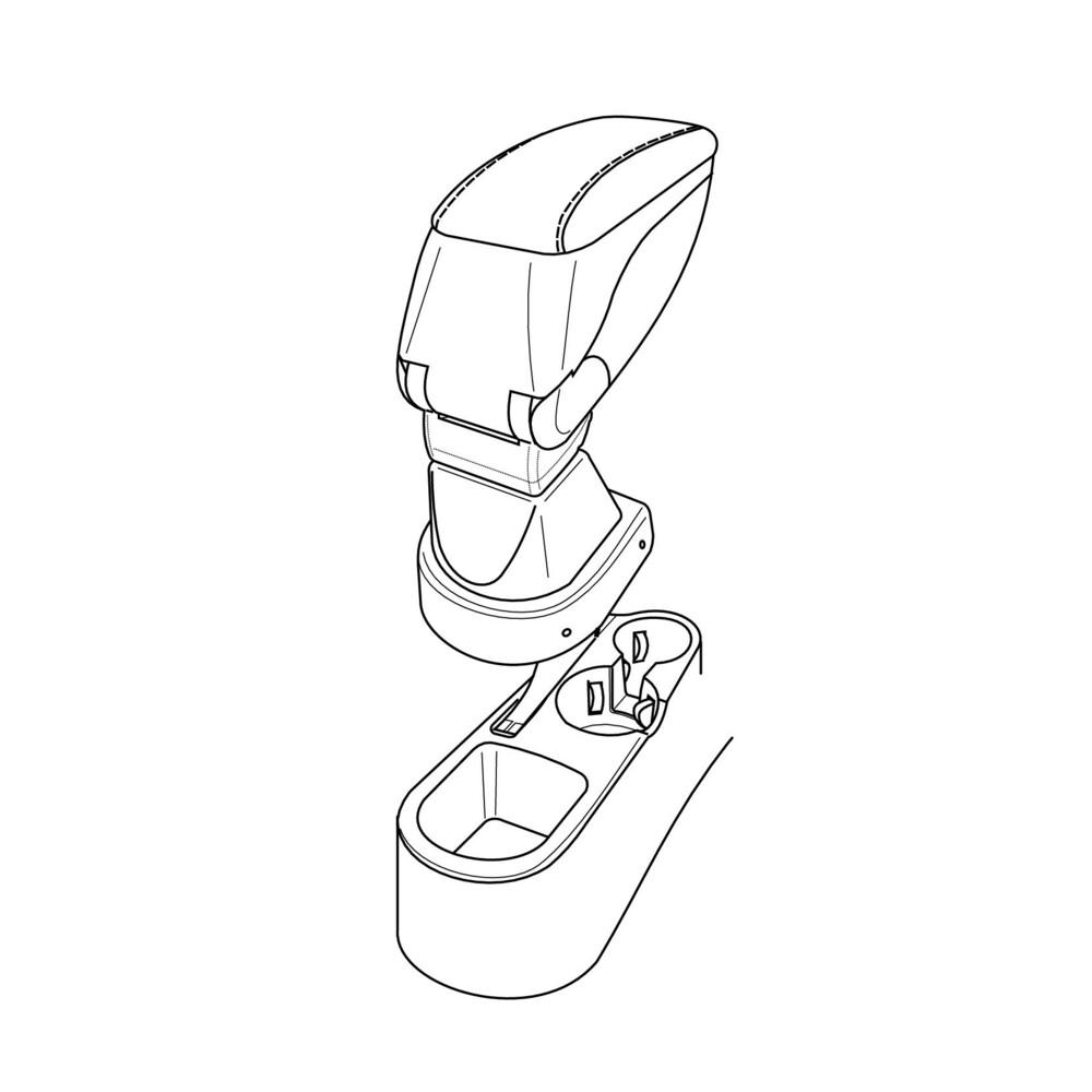 Attacco bracciolo -  Hyundai Accent (04/06>12/09)