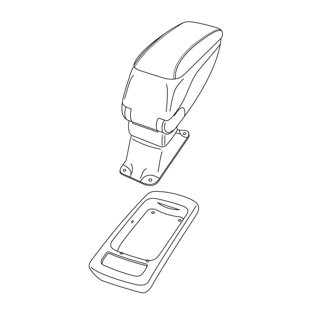 Attacco bracciolo -  Opel Meriva (Solo con FlexRail) (05/10>05/17)