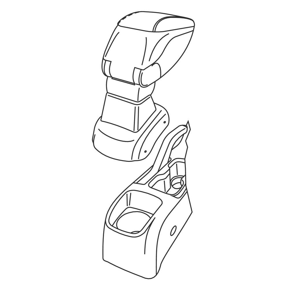 Attacco bracciolo -  Chevrolet Aveo 4p (05/11>09/15) -  Chevrolet Aveo 5p (05/11>09/15)