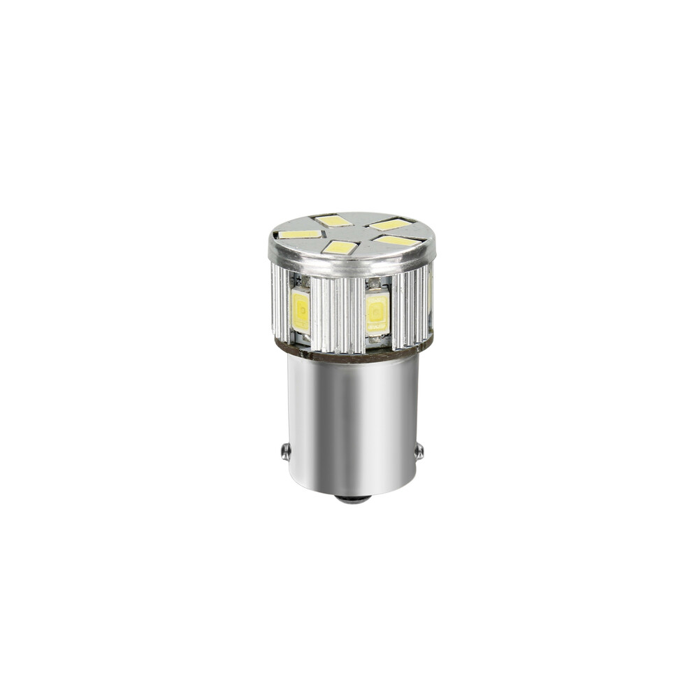 10-30V Mega-Led 11 -  11 SMD x 1 chip - (P21W) - BA15s - 1 pz  - D/Blister - Bianco - Doppia polarità - Resistenza incorporata