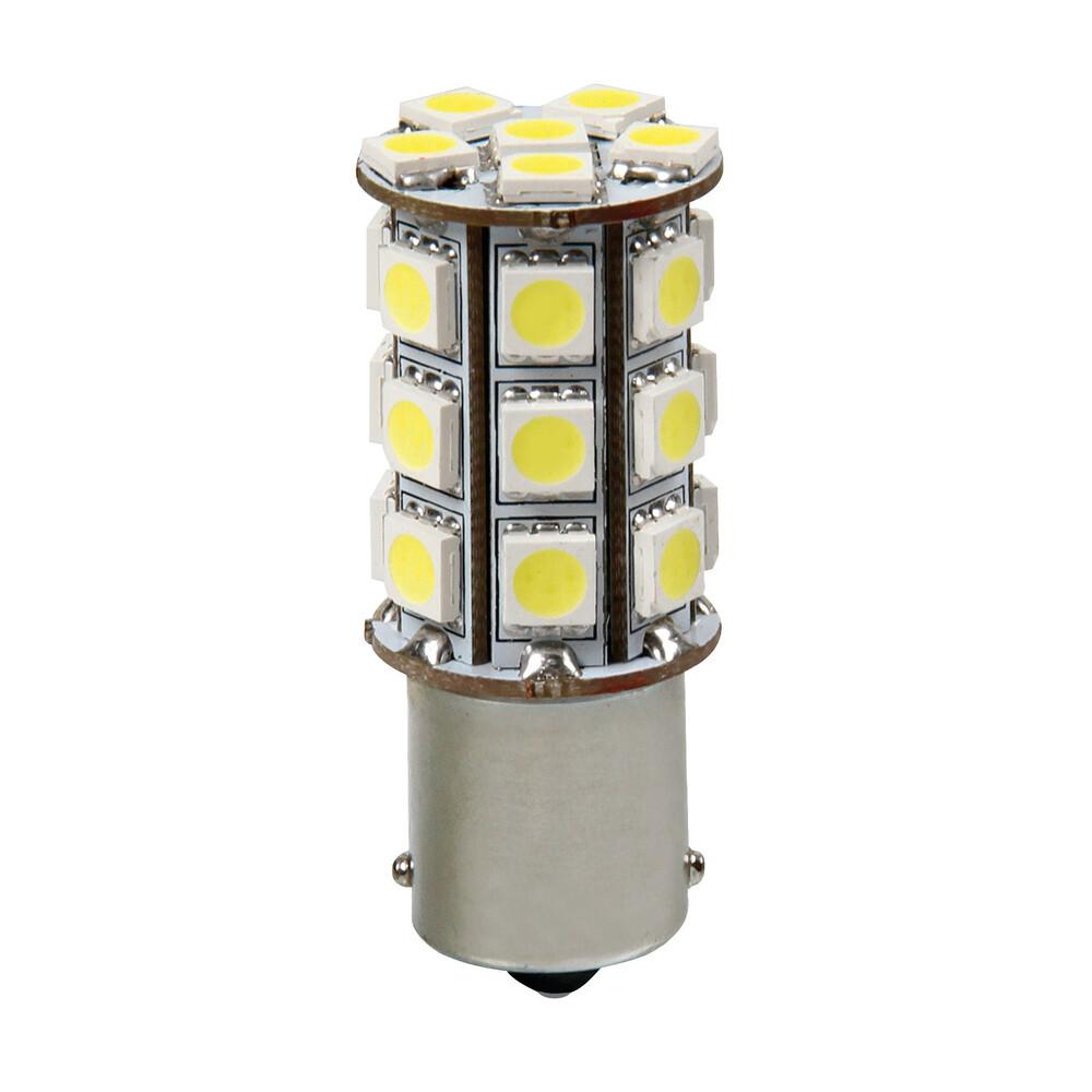 12V Hyper-Led 81 - 27 SMD x 3 chips - (P21W) - BA15s - 1 pz  - D/Blister - Bianco