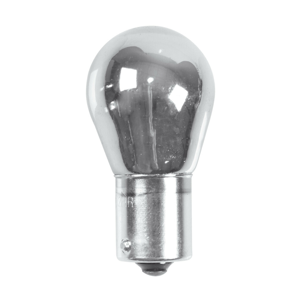 12V Lampada 1 filamento - P21W - 21W - BA15s - 2 pz  - D/Blister - Cromo/Rosso