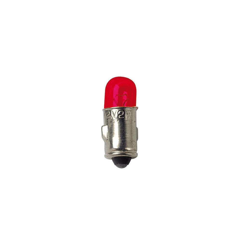 12V Lampada mignon - (J) - 2W - BA7s - 2 pz  - D/Blister - Rosso