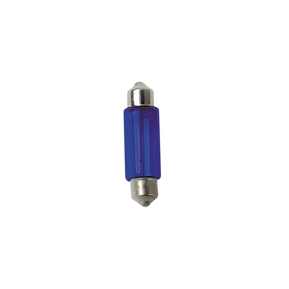 12V Lampada siluro - (C5W) - 11x35 mm - 5W - SV8,5-8 - 2 pz  - D/Blister - Blu