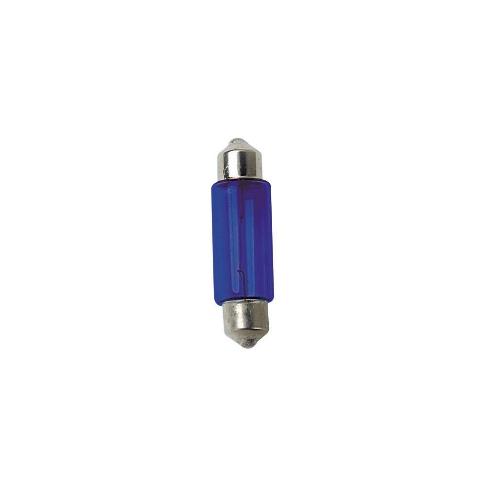 12V Lampada siluro - (C10W) - 11x35 mm - 10W - SV8,5-8 - 2 pz  - D/Blister - Blu