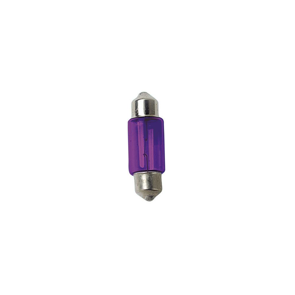 12V Lampada siluro - 11x31 mm - 10W - SV8,5-8 - 2 pz  - D/Blister - Viola