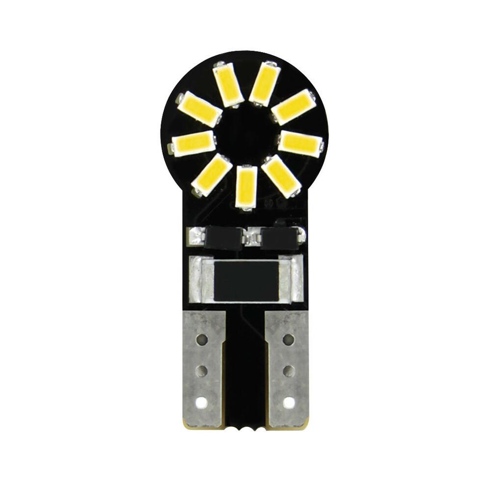 12V Hyper-Led 18 - 18 SMD x 1 chips - (T10) - W2,1x9,5d - 2 pz  - D/Blister - Bianco - Doppia polarità - Resistenza incorporata