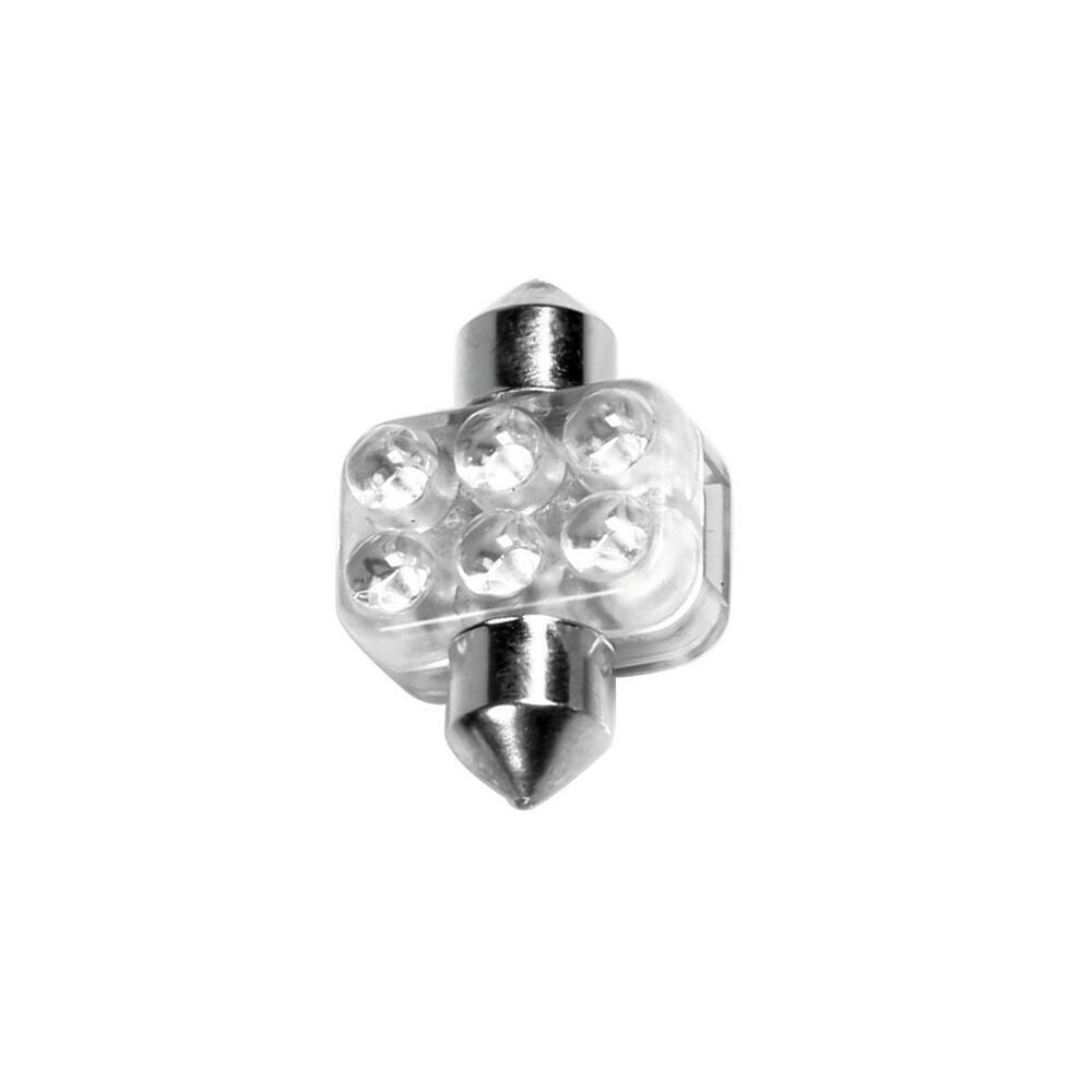 12V Lampada siluro 6 Led - 18x31 mm - SV8,5-8 - 1 pz  - D/Blister - Rosso