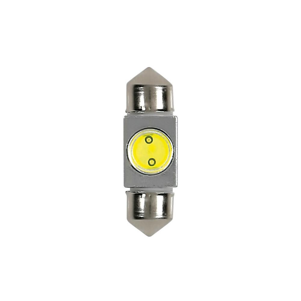 12V Hyper-Led 2 - 1 SMD x 2 chips - 10x31 mm - SV8,5-8 - 1 pz  - D/Blister - Bianco