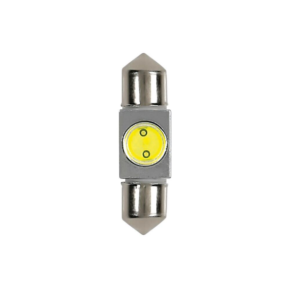 12V Hyper-Led 2 - 1 SMD x 2 chips - (C5W) - 10x36 mm - SV8,5-8 - 1 pz  - D/Blister - Bianco