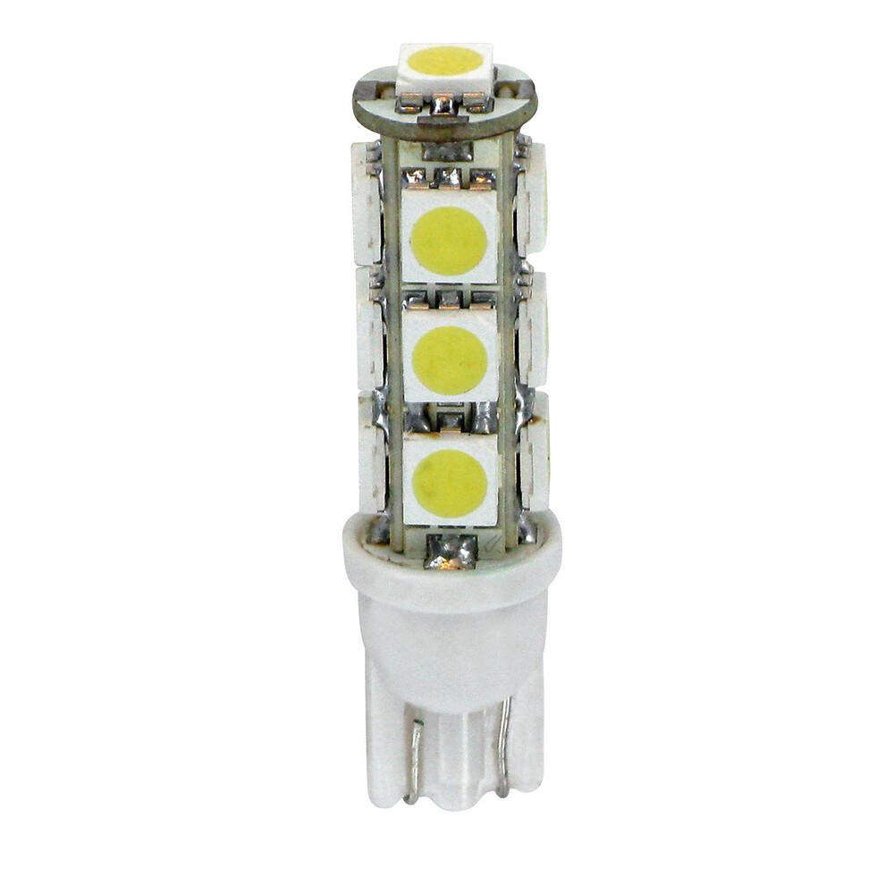 12V Hyper-Led 39 - 13 SMD x 3 chips - (T10) - W2,1x9,5d - 2 pz  - D/Blister - Bianco - Doppia polarità