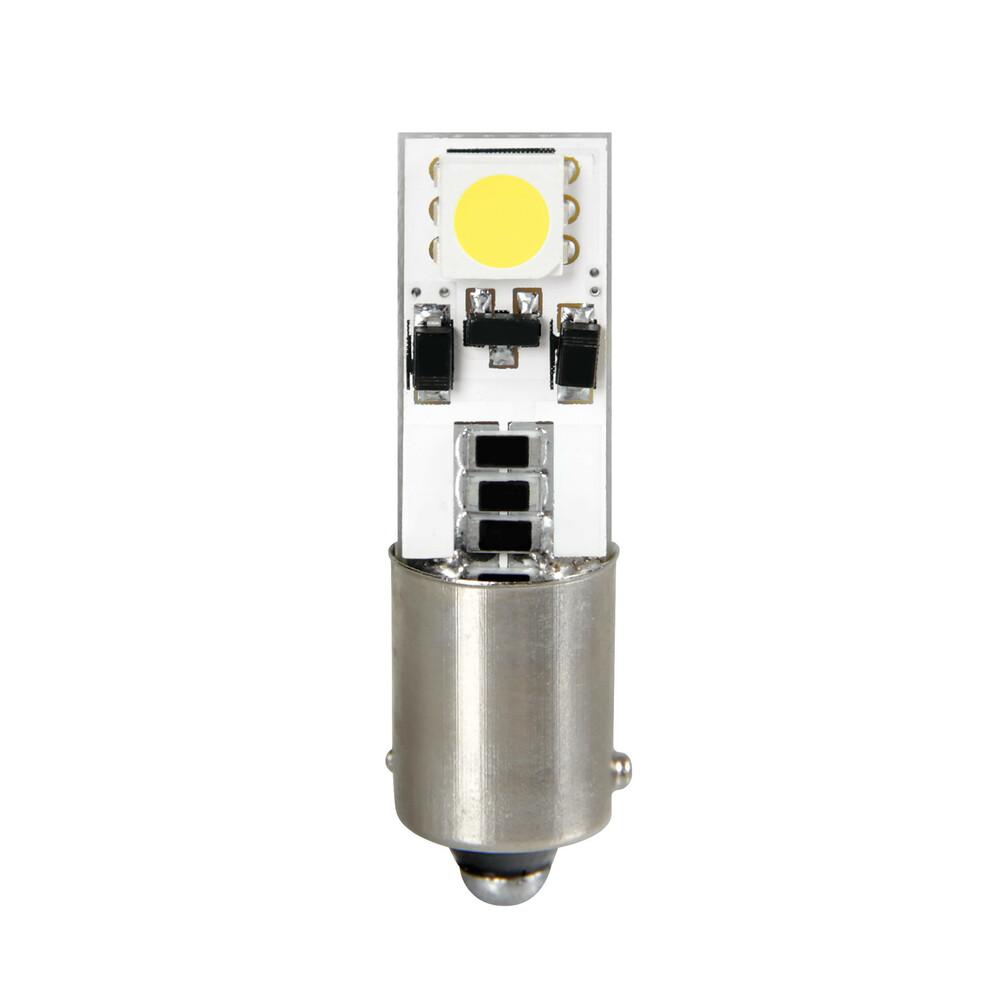 12V Hyper-Led 6 - 2 SMD x 3 chips - Bifocus - BAX9s - 2 pz  - D/Blister - Bianco - Doppia polarità - Resistenza incorporata