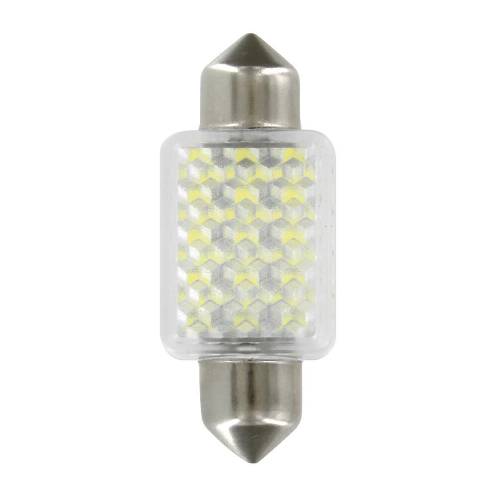 12V Hyper-Led 27 - 27 SMD x 1 chips - 15x35 mm - SV8,5-8 - 1 pz  - D/Blister - Bianco - Doppia polarità