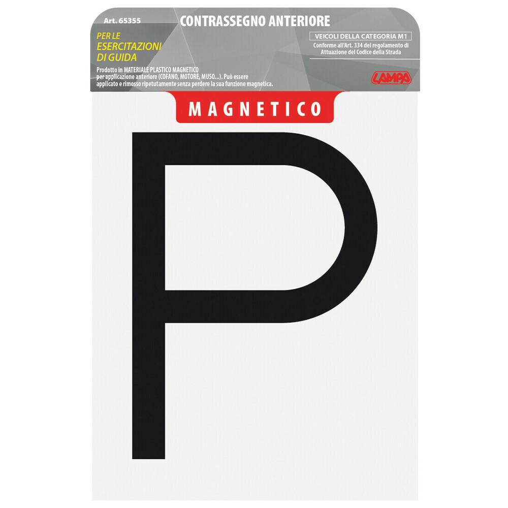 Contrassegno per esercitazioni guida, magnetico - Anteriore