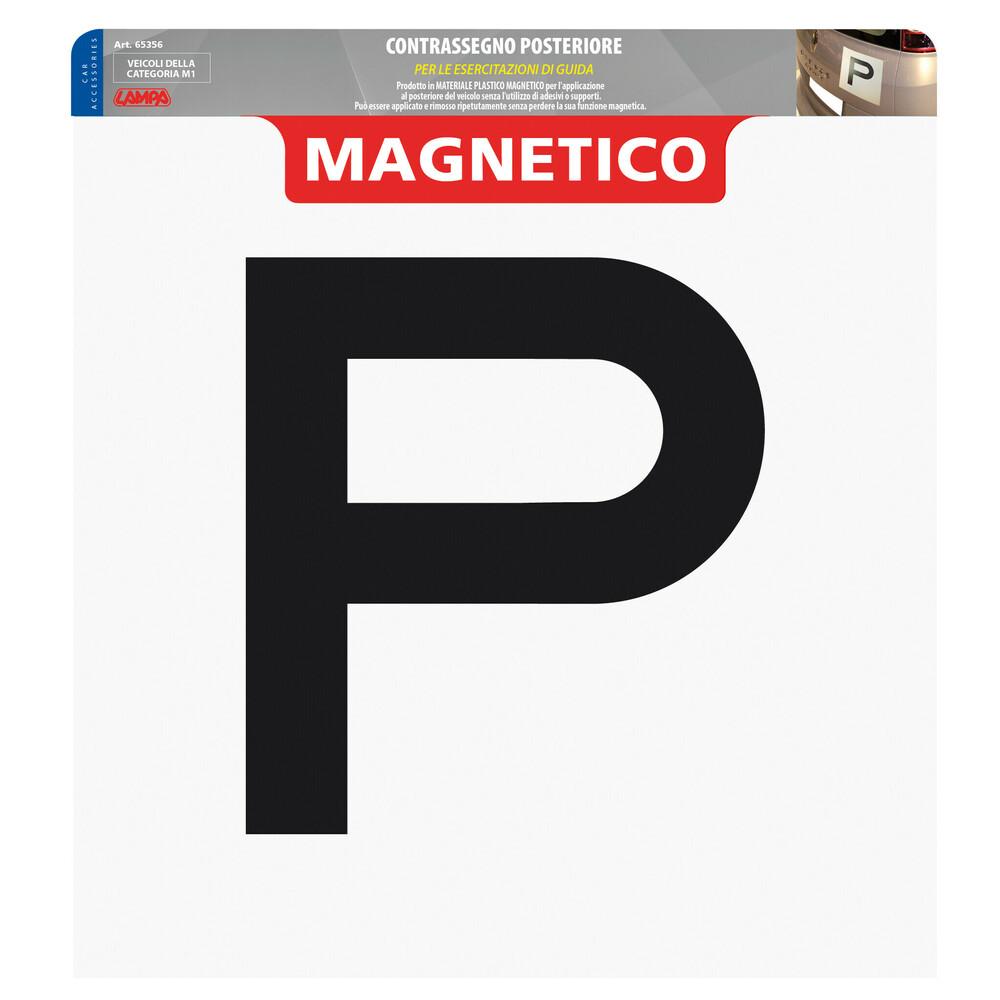 Contrassegno per esercitazioni guida, magnetico - Posteriore