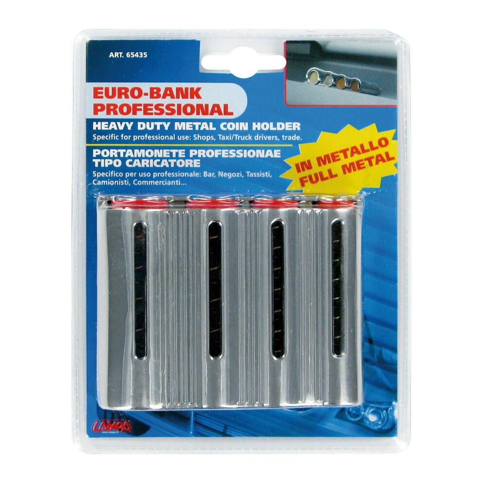 in Metallo Portamonete Professionale LAMPA 65435 Euro Bank Professional