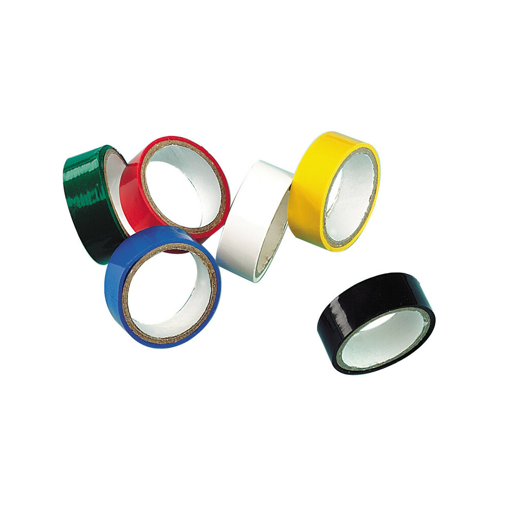 Set 6 nastri adesivi isolanti in pvc standard