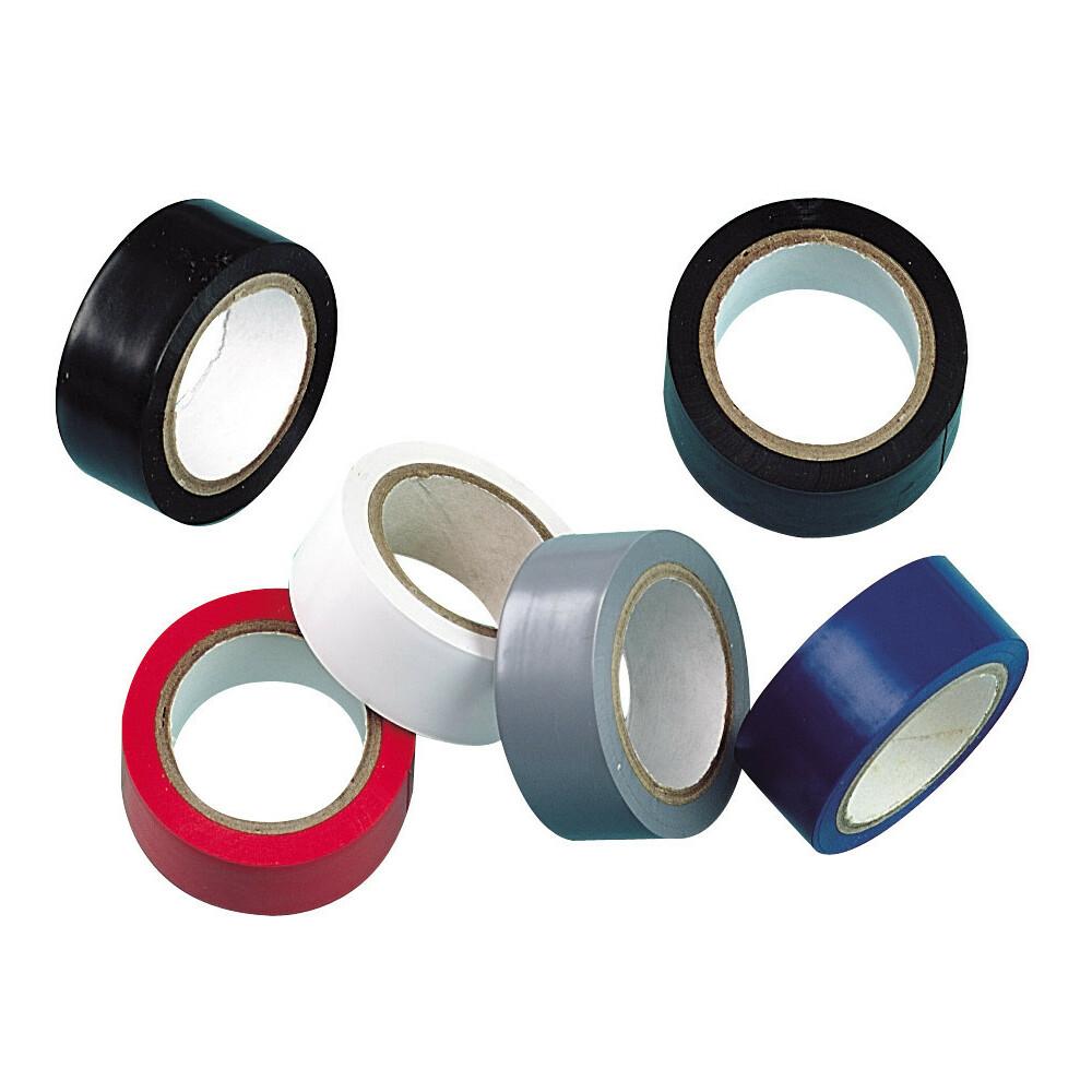 Set 6 nastri isolanti adesivi omologati in PVC plastificato