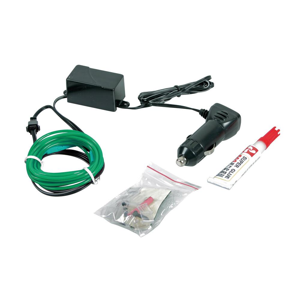 EL String-Light 12V - 100 cm - Verde