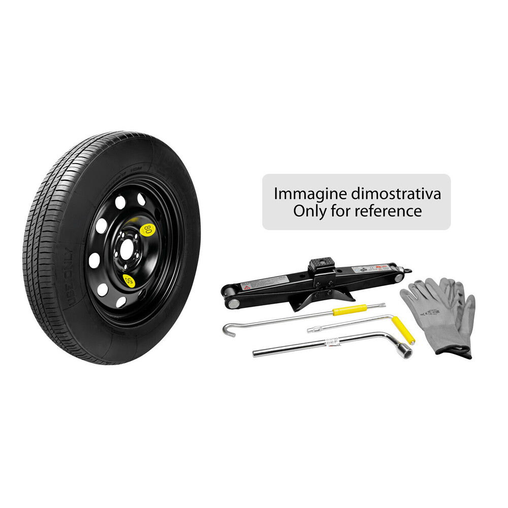 Compact spare wheel kit