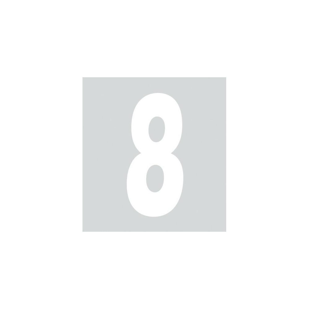 Spell-It, Numero adesivo (140x65 mm) - Bianco - 8